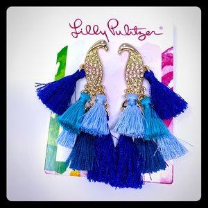 NWT Lilly Pulitzer Nom De Plume tassel earrings!